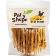 Pet 'n Shape All-Natural Chicken Hide Twists Dog Treats, 16-oz bag