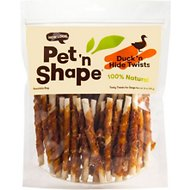 Pet 'n Shape All-Natural Duck Hide Twists Dog Treats, 16-oz bag