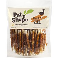 Pet 'n Shape All-Natural Duck Hide Twists Dog Treats