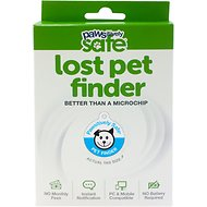 Platinum Pets Pawsitively Safe Pet Finder Tag for Dogs, Blue
