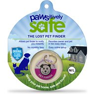 Platinum Pets Pawsitively Safe Pet Finder Tag for Dogs, Pink, Medium/Large