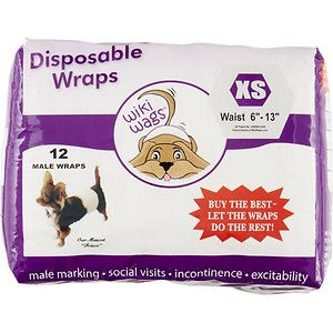 Wiki Wags 12 Disposable Male Dog Wraps