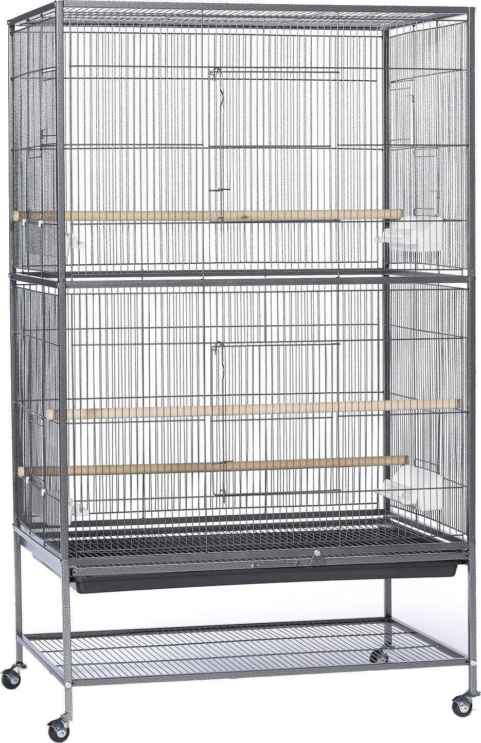 0d7e2441c6a2 Prevue Pet Products Wrought Iron Small & Medium Birds Flight Cage, Black  Hammertone