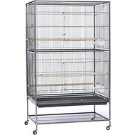 Prevue Pet Products Wrought Iron Small & Medium Birds Flight Cage, Black Hammertone