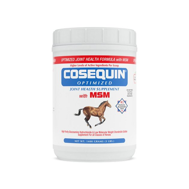 nutramax cosequin optimized with msm powder joint health horse supplement 3 lb tub. Black Bedroom Furniture Sets. Home Design Ideas