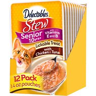 Hartz Delectables Stew Senior 10+ Chicken & Tuna Lickable Cat Treat, 1.4-oz, case of 12