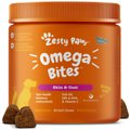 Zesty Paws Omega Bites Skin & Coat Support Chicken Flavor Chews with Omega 3, 6, & 9 for Dogs
