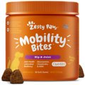 Zesty Paws Mobility Bites Hip & Joint Support Duck Flavor Chews with Glucosamine, Chondroitin & MSM for Dogs