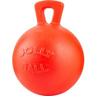 Horsemen's Pride Jolly Ball Horse Toy, Orange, 10-in