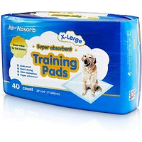 Deals on 40Ct All-Absorb Super Absorbent Training Pads X-Large 28 x 34-in