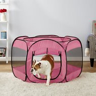 Paws & Pals Portable Pet Playpen, Pink