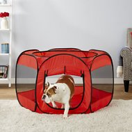 Paws & Pals Portable Pet Playpen, Red
