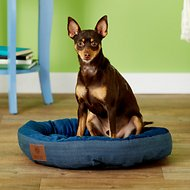 American Kennel Club Casablanca Solid Round Pet Bed, Blue