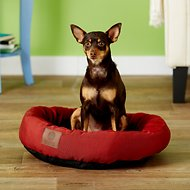 American Kennel Club Casablanca Round Pet Bed, Red