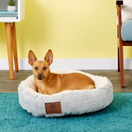 American Kennel Club Casablanca Round Pet Bed, Light Blue