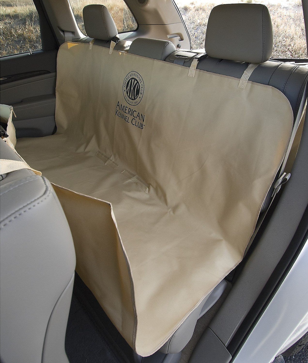 Fabulous American Kennel Club Pet Car Seat Cover Tan Alphanode Cool Chair Designs And Ideas Alphanodeonline