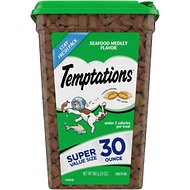 Temptations Seafood Medley Flavor Cat Treats, 30-oz tub