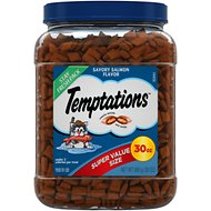Temptations Savory Salmon Flavor Cat Treats, 30-oz tub