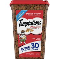 Temptations Mixups Backyard Cookout Cat Treats, 30-oz tub