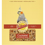 Volkman Avian Science Super Sunflower Seed-Free Cockatiel Food, 4-lb bag
