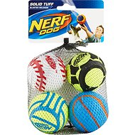 Nerf Dog Solid Tuff Sports Balls Dog Toy, 4 Pack, Medium
