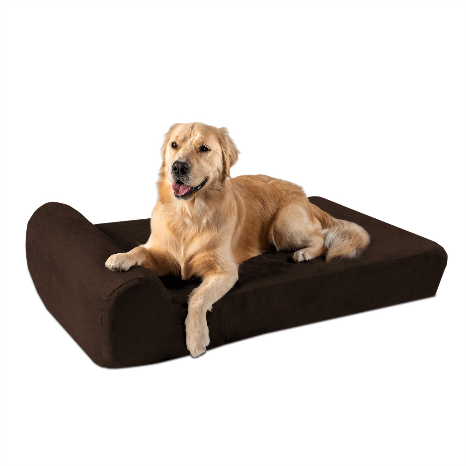 Miraculous Big Barker Headrest Edition Pillow Top Orthopedic Dog Bed Chocolate Large Ncnpc Chair Design For Home Ncnpcorg