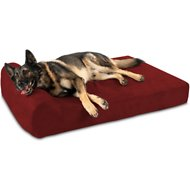 Big Barker Headrest Edition Pillow Top Orthopedic Dog Bed, Burgundy, X-Large