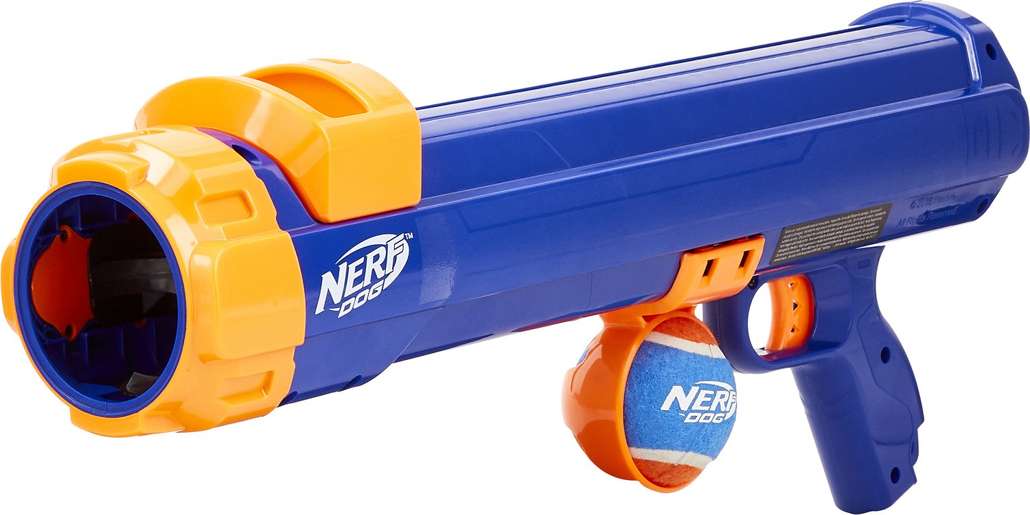 Nerf Dog Tennis Ball Blaster Dog Toy Large Chewy Com