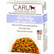 Caru Real Turkey with Lamb Stew Grain-Free Wet Dog Food, 12.5-oz, case of 12
