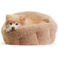 Best Friends by Sheri OrthoComfort Sherpa Deep Dish Cuddler Dog & Cat Bed, Beige