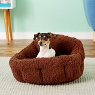 Best Friends by Sheri OrthoComfort Sherpa Deep Dish Cuddler Dog & Cat Bed, Brown
