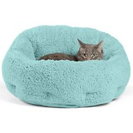 Best Friends by Sheri OrthoComfort Sherpa Deep Dish Cuddler Dog & Cat Bed, Teal