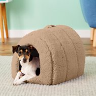 Best Friends by Sheri Sherpa Igloo Dog & Cat Bed, Beige