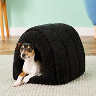 Best Friends by Sheri Sherpa Igloo Dog & Cat Bed, Black