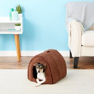 Best Friends by Sheri Sherpa Igloo Dog & Cat Bed, Brown