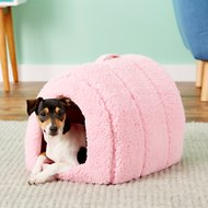 Best Friends by Sheri Sherpa Igloo Dog & Cat Bed, Pink