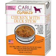 Caru Real Chicken with Duck Stew Grain-Free Wet Dog Food, 12.5-oz, case of 12
