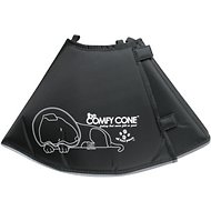 Comfy Cone E-Collar for Dogs & Cats, Black, Large