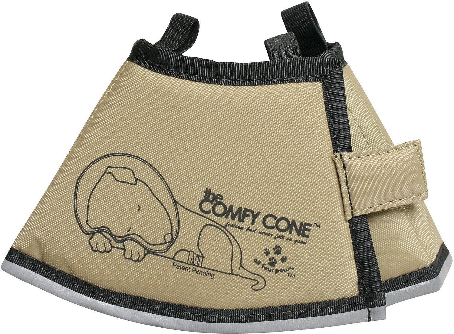 Comfy Cone E Collar For Dogs Cats Tan