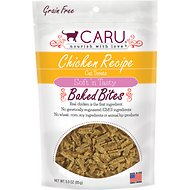 Caru Soft 'n Tasty Baked Bites Chicken Recipe Grain-Free Cat Treats, 3-oz bag