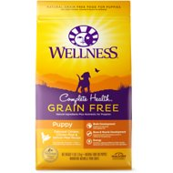 Wellness Grain-Free Complete Health Puppy Deboned Chicken, Chicken Meal & Salmon Meal Recipe Dry Dog Food, 24-lb bag