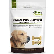 Paw Choice Naturals Daily Probiotics + Prebiotics Dog Chews, 60 count