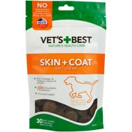 Vet's Best Skin + Coat Soft Chews Dog Supplement, 30 count