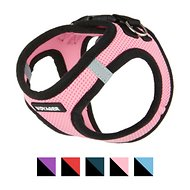 Best Pet Supplies Voyager Black Trim Mesh Dog Harness, Pink, X-Small