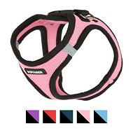 Best Pet Supplies Voyager Black Trim Mesh Dog Harness, Pink, Small