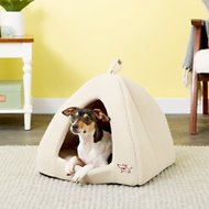 Best Pet Supplies Tent Covered Cat & Dog Bed, Tan
