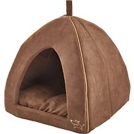 Best Pet Supplies Modern Triangular Tent Bed, Dark Brown, X-Large