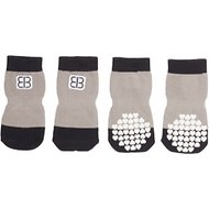 Petego Traction Control Indoor Dog Socks, Black/Gray, X-Large