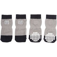 Petego Traction Control Indoor Dog Socks, Black/Gray, XX-Large