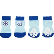 Petego Traction Control Indoor Dog Socks, Blue/Light Blue, Medium